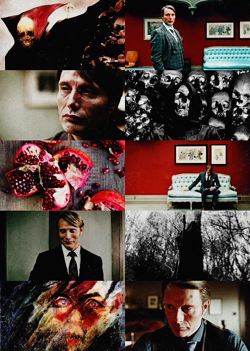 samiferist:  Hannibal AU↳ Hannibal Lecter as Hades; Will Graham as Persephone  When you fall asleep, With your head, Upon my shoulder. When you're in my arms, But you've gone somewhere deeper. When you play it harder, And I try to follow you there, It's not about control, But I turn back when I see where you go.  Oblivion - Bastille