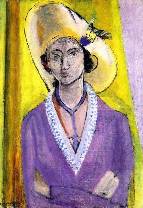 bofransson:  The Yellow Hat Henri Matisse - 1929
