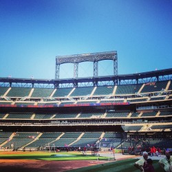 Game 2 of the series at citi field. This time early enough to see BP.  (at Citi Field)