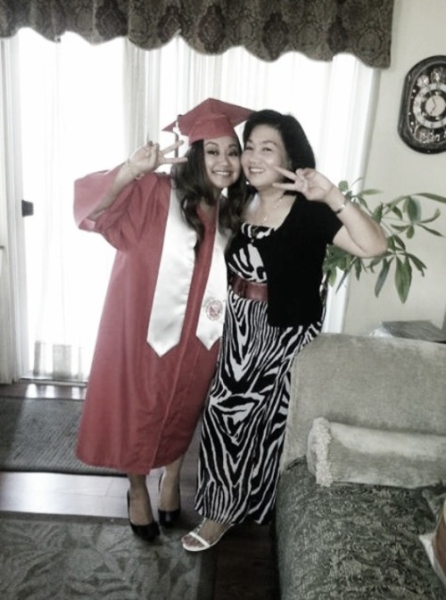 Emily & Mom being silly. ;) Congratulations, sistah! So proud of you! ❤
