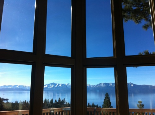 Amazing view from the Tahoe house.