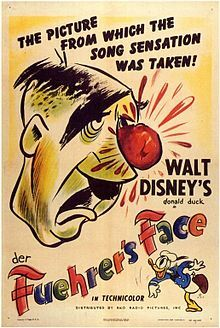 Donald Duck takes on Hitler.