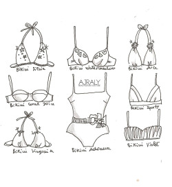 Yes, we are bikinis lovers!!! Illustration by Ilaria Vallone for Ajraly Beachwear Couture
