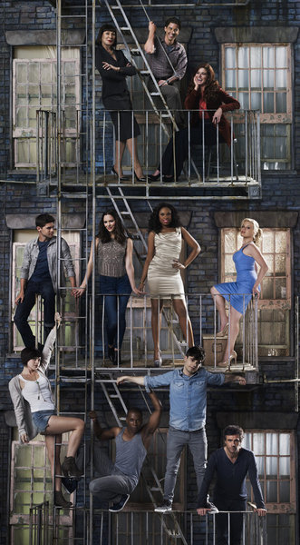 "huffposttv:  ""Smash"" Season 2 cast photo. Three episodes of the new season just landed on my desk and I cannot wait to see how NBC revamped this Golden Globe nominee.  No day but today?"