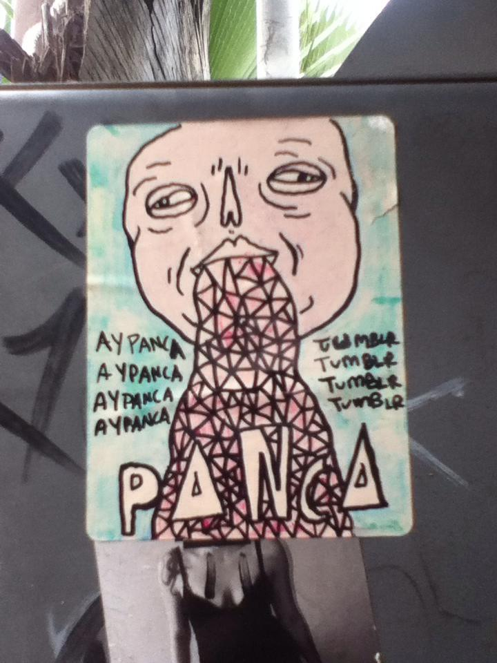 Sticker I made at the Mexico/US border