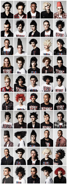 vogue:  Vogue's army of punk rockers.Photographed by Jeff Henrikson