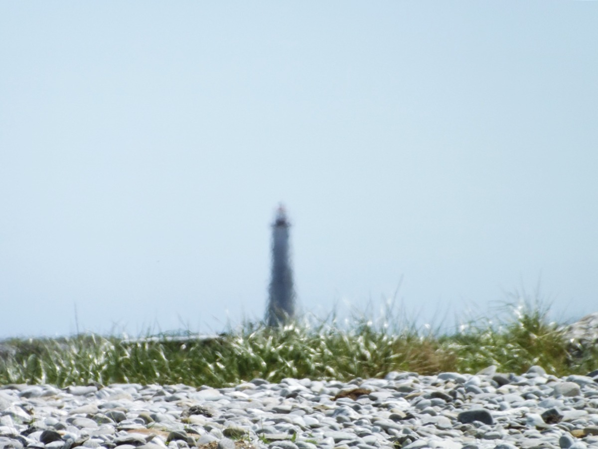 The Cape Island lighthouse off The Hawk, Cape Sable Island.