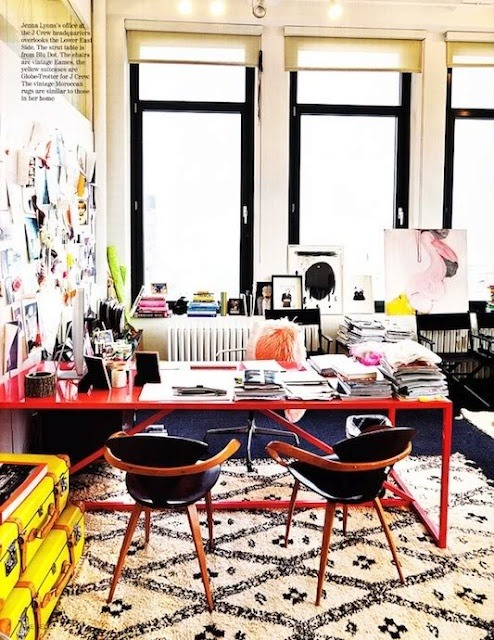 Jenna Lyon's office at @JCrew. Lately, I'm obsessed with creating the perfect new home office.