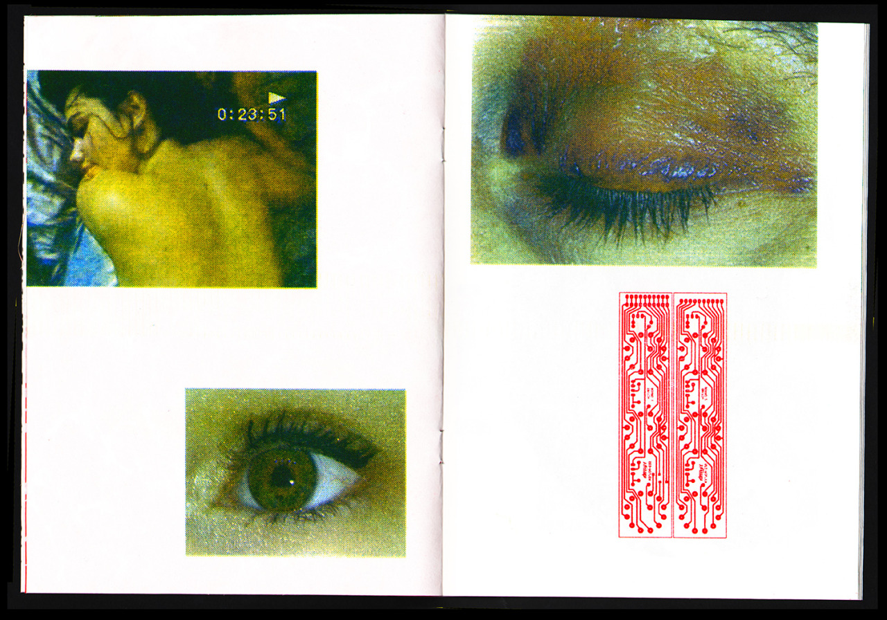 Excerpt from Angel Dust Multicolor Risograph zine Edition of 27 Published by Catalogue Library