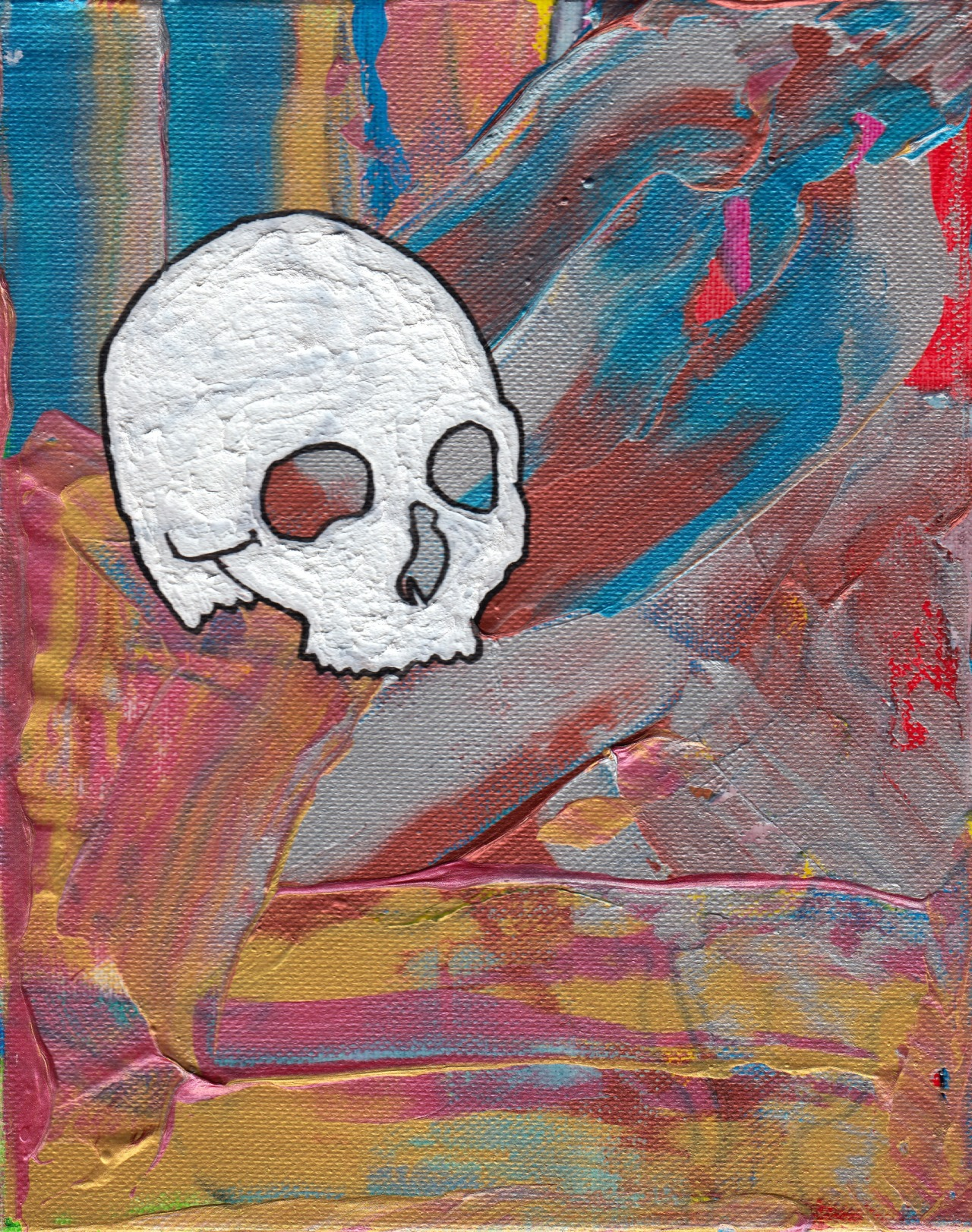 "Bones #4 - Any Way You Want It - 8""x10"" - Acrylic on Canvas"