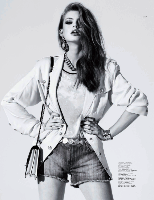 """Blue Jean Bop""Jalouse France, April 2013Model : Hanna Verhees"