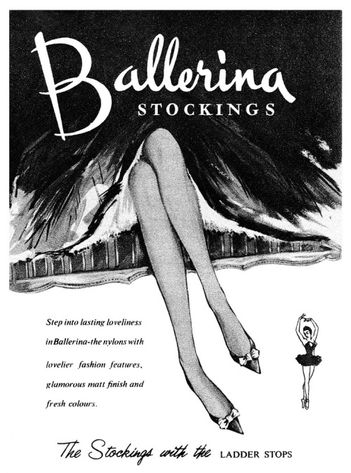 Ballerina Stockings advertisement. (by totallymystified)