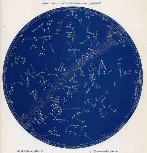 nevver:  1887 December & January Star Map