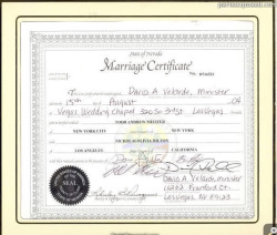 Nicky Hilton's marriage certificate to Todd Meister.
