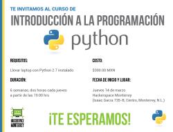 ¿Algún interesado en aprender Python? Es una buena oportunidad