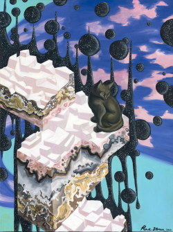 "visionaryartbook:  Rae Vena""Bliss cat in cupcake kitty city!""www.RAEVENA.comwww.facebook.com/RAEVENAartistartist@raevena.com"