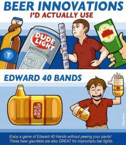collegehumor:  8 Beer Innovations We'd Actually Use [Click for more] Now you can double fist and take a piss.