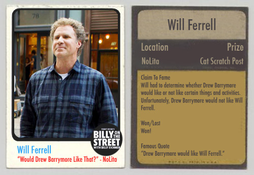 billyeichner:  NEW: Billy on the Street trading cards! Collect them all! (PS- Share this post and you could win a BOTS t-shirt!!!)