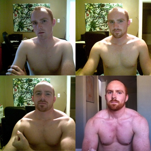 gymger:  Two year progress pic. Not too shabby if I do say so myself.