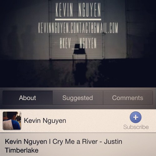 Hey guys! Please support my friend @kev_nguyen by watching his first 2013 dance video and remember to subscribe! 😊 #evolved #amazingdancer #lol #justintimberlake #crymeariver
