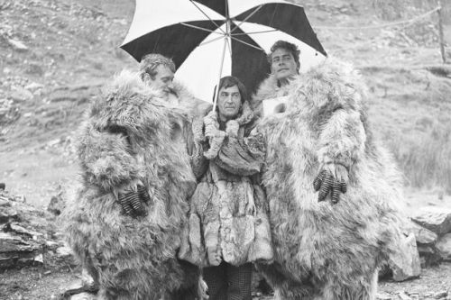 Patrick Troughton on the set of Doctor Who: The Abominable Snowmen