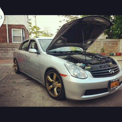 My baby is coming along nicely #teaminfiniti #g35 #sedan #tunerlife #needsawash