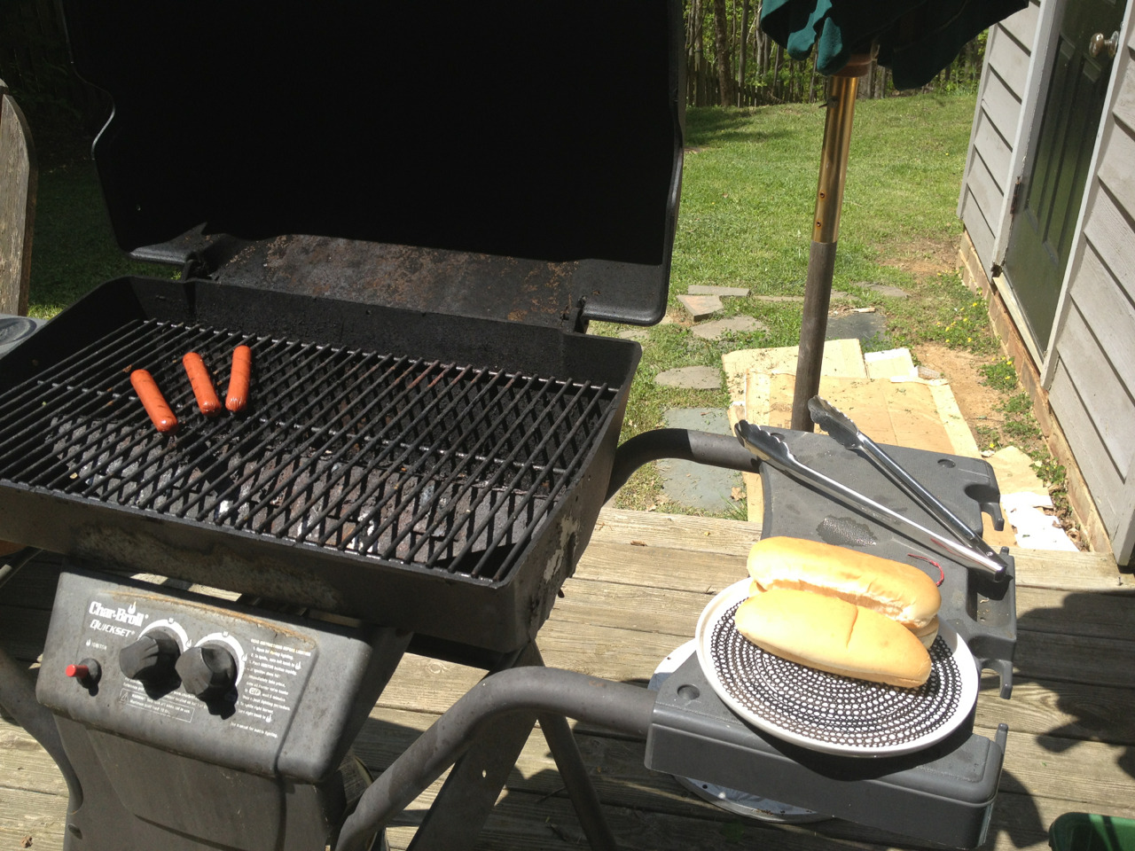 Grilling lunch because we can.