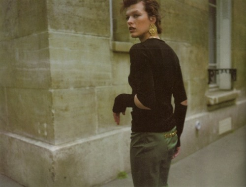 Milla Jovovich in Mixte France F/W 96.97