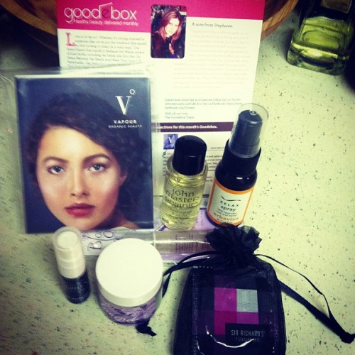 This month's @goodebox is LOADED w some great #naturalbeauty treats! Way to step it up!