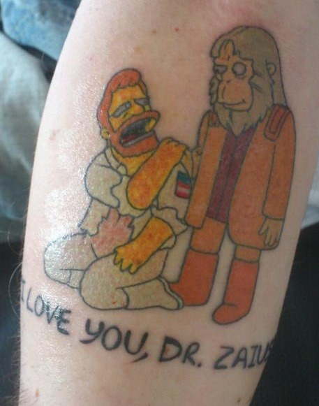 thisbecatness:   I love you, Dr Zaius!  My brother got this tattoo today…