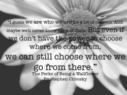 the perks of being a wallflower by stephen chbosky | Idea Girl Consulting Word Press on We Heart It. http://weheartit.com/entry/61944918/via/aleinnad