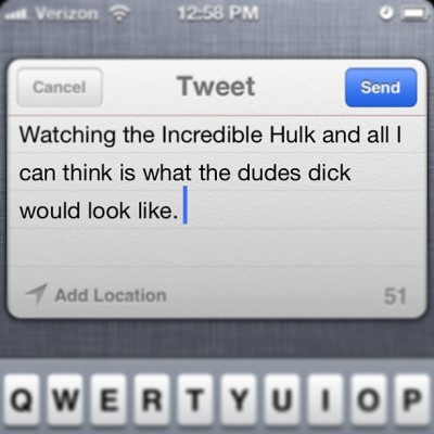 That's where my mind wanders #twitter #hulk #action #actionmovies #incrediblehulk #dirtymind