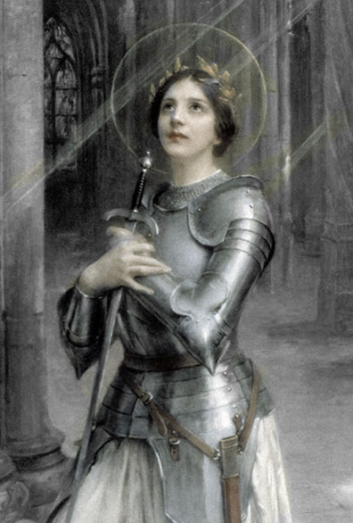 briliant-photo:  Saint Joan de Arc In the face of fear she chose to be daring, in the face of anxiety, she chose to trust, in the face of impossibility, she chose to begin