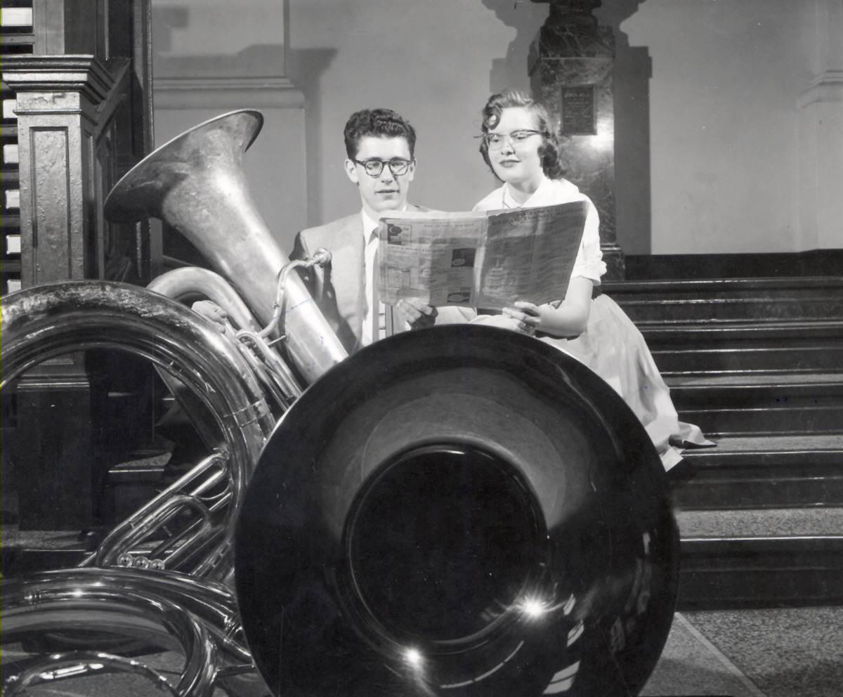 ryanshistoryblog:  State Solo Ensemble Music Festival, May 14, 1955. Madison, Wisconsin. From: The University of Wisconsin Archives