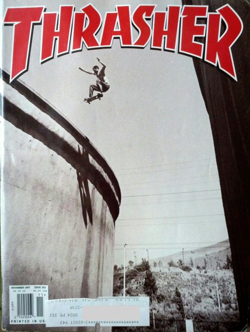 leirda:  Thrasher, November 1997, issue 202 (Is that Jeremy Wray?)