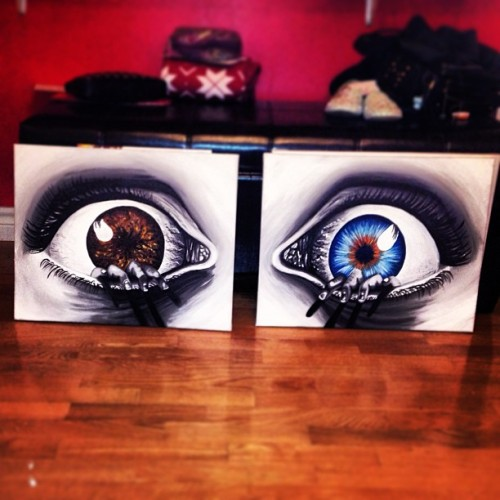 #painting #canvas #color #colorful #eye #eyes #eyelashes #hands #surreal #artwork #ar #helenkavourisart #dawsoncollege #instamood #iphonesia #tweegram #picoftheday #igers  #iphoneonly #igdaily #instatags #picstitch #nofilter #followme #fun