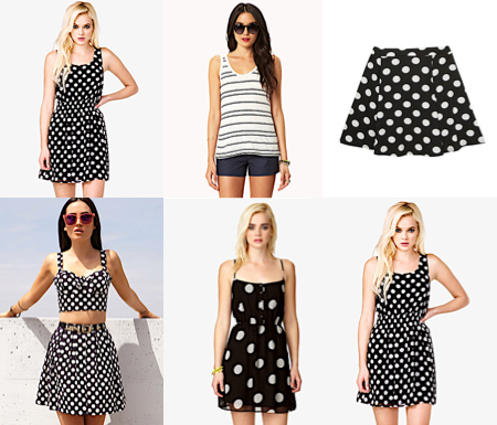 Dupes for Rachel's Glee Live 'Firework' Outfit Polka Dot A-Line Skirt $15.80 B&W Polka Dot Skater Skirt £9.99 Striped Tank $12.80 Drawstring Dress $15.80 Smocked Polka Dot Dress $14.80