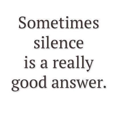 what an apt post for right of silence.