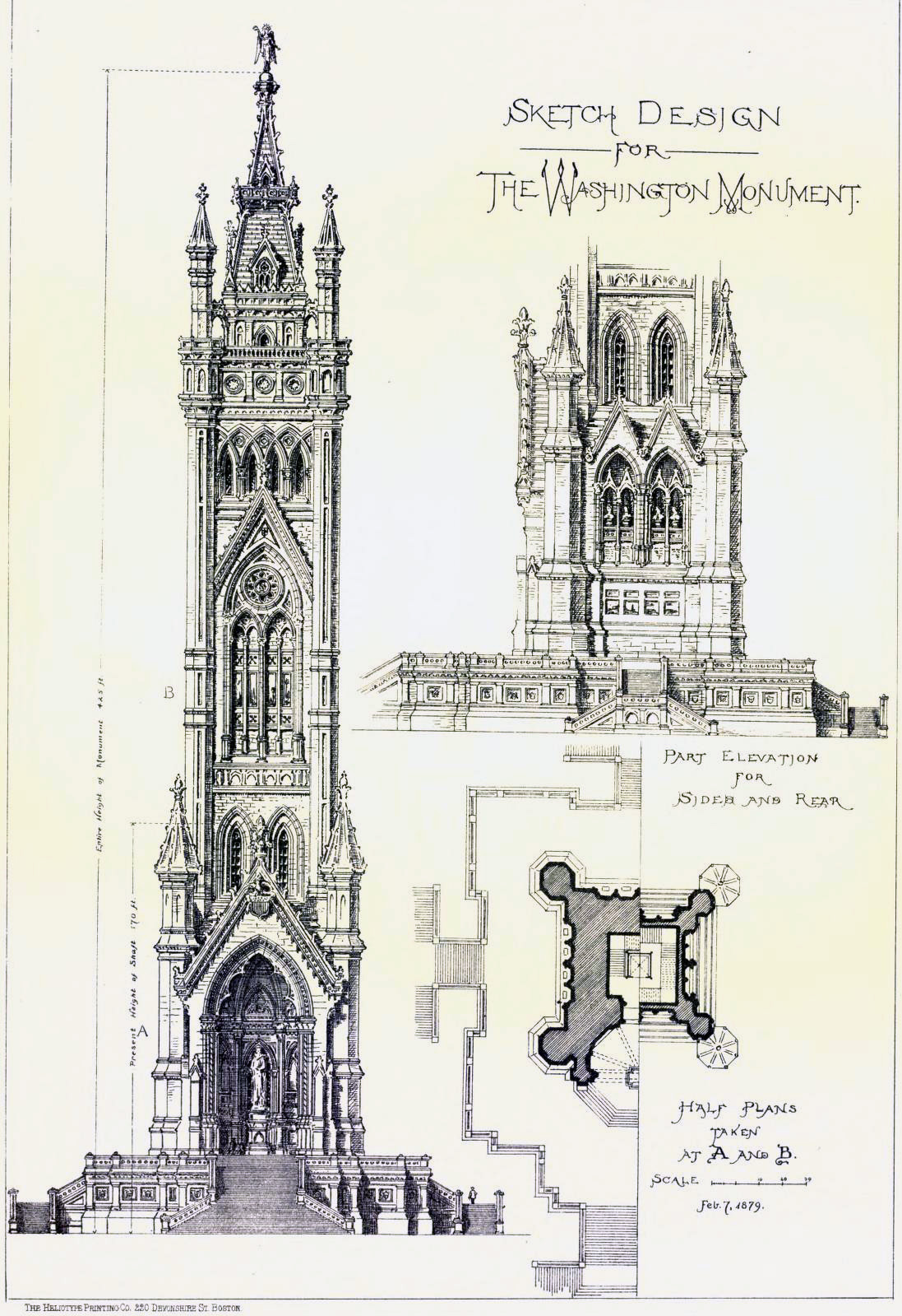 Design proposal for the Washington Monument, Washington D.C.