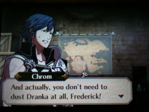 Oh yes dust me Frederick, dust me!