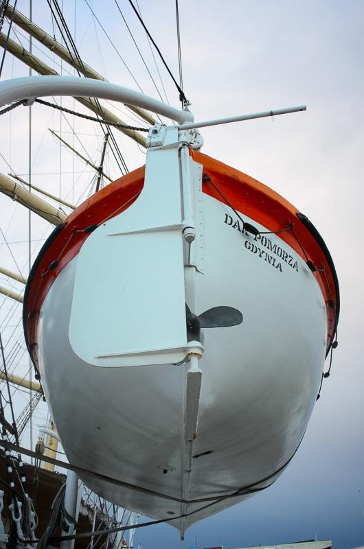 Dar Pomorza, Rettungsboot, Gdynia