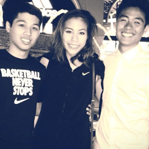 Sandwiched by my handsome nephews. Welcome to the Phan Club. // #fambam #love #family #homesweethome