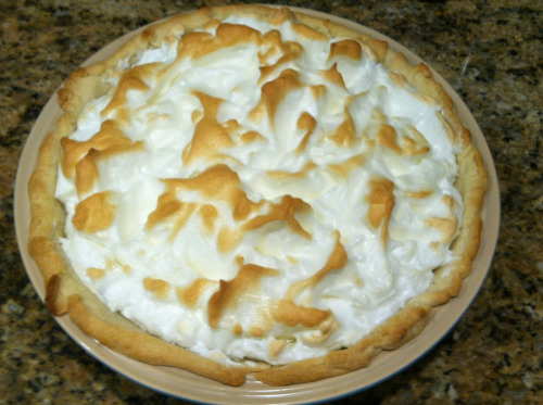 Made my very first lemon merengue pie!  http://m.allrecipes.com/recipe/15093/recipegrandmas-lemon-meringue-pie