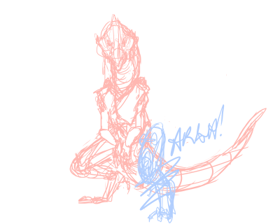Trying to draw Zenith, left leg is giving me nightmares. Help? ;-;