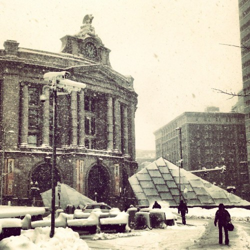 Snowy South Station…