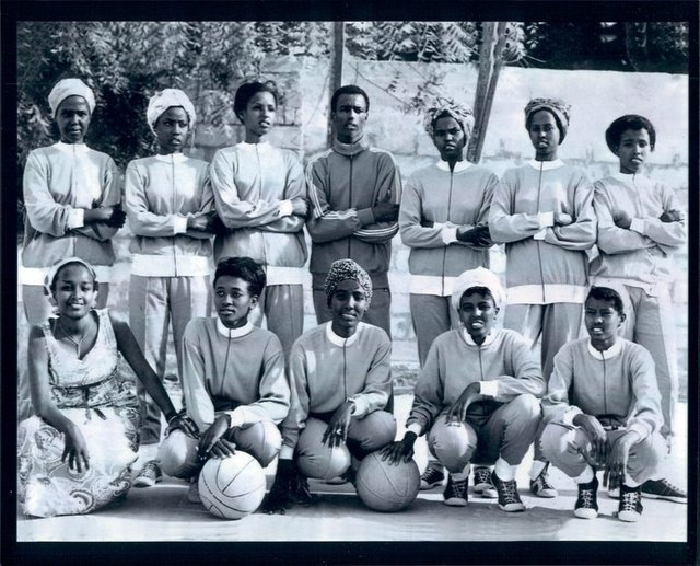 Somali Womens Basketball team circa 1970s