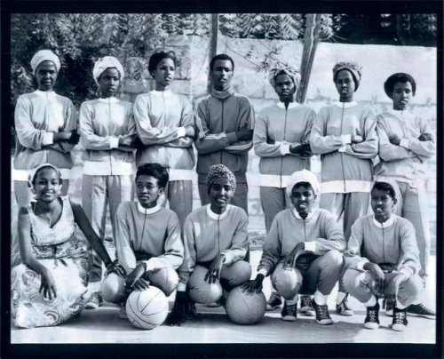 The Somali women's basketball team, 1970s. (via Creatures of Comfort.)