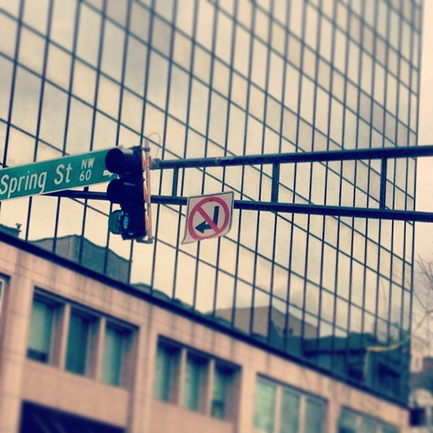 Drivers, what does this sign mean to you? (at Atlanta, GA)