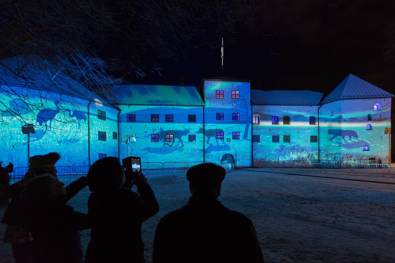 Luminous landscape Turun linnassa