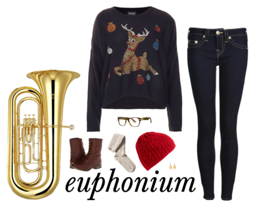 Happy holidays, euphoniums! ❄ -music&fashion xo